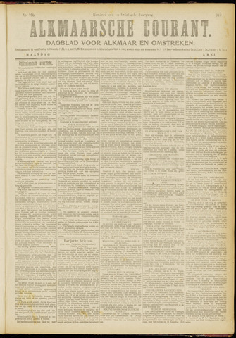 Alkmaarsche Courant 1919-05-05