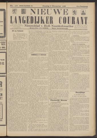 Nieuwe Langedijker Courant 1926-11-09