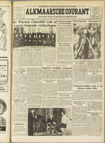Alkmaarsche Courant 1955-04-07