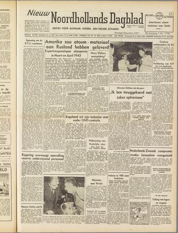 Nieuw Noordhollandsch Dagblad : voor Alkmaar en omgeving 1949-12-06