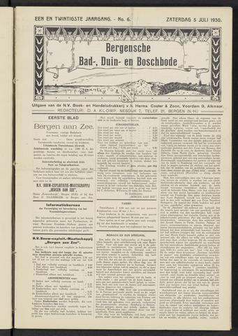 Bergensche bad-, duin- en boschbode 1930-07-05