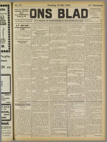 Ons Blad : katholiek nieuwsblad voor N-H 1916-05-16