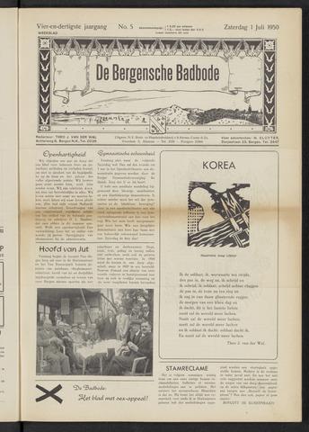 Bergensche bad-, duin- en boschbode 1950-07-01