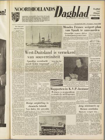 Noordhollands Dagblad : dagblad voor Alkmaar en omgeving 1954-10-02