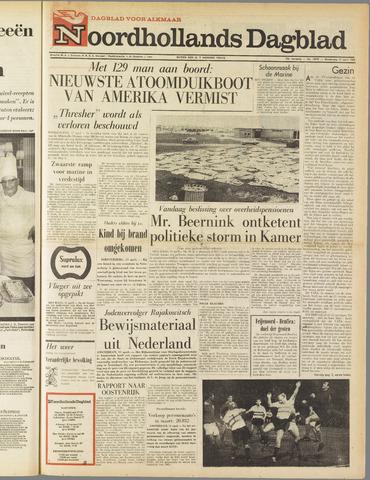 Noordhollands Dagblad : dagblad voor Alkmaar en omgeving 1963-04-11