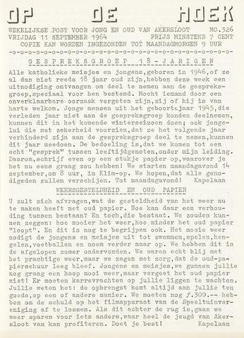 Op De Hoek, weekblad voor Akersloot 1964-09-11