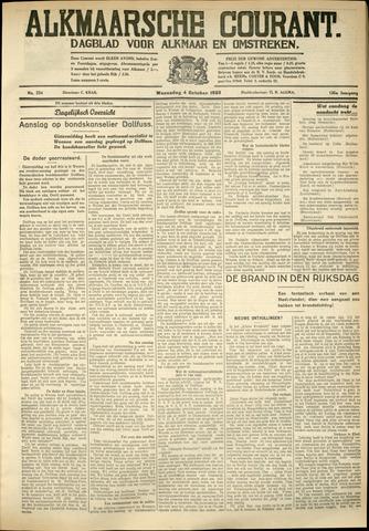 Alkmaarsche Courant 1933-10-04