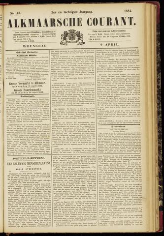 Alkmaarsche Courant 1884-04-09