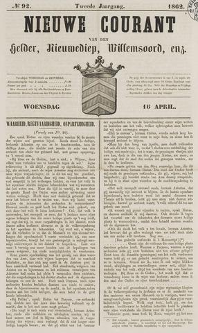 Nieuwe Courant van Den Helder 1862-04-16