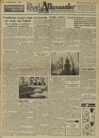 De Vrije Alkmaarder 1949-11-23