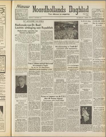 Nieuw Noordhollandsch Dagblad : voor Alkmaar en omgeving 1947-12-22