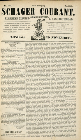 Schager Courant 1881-11-20