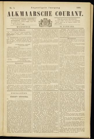 Alkmaarsche Courant 1888-01-11
