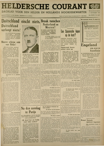 Heldersche Courant 1938-11-09