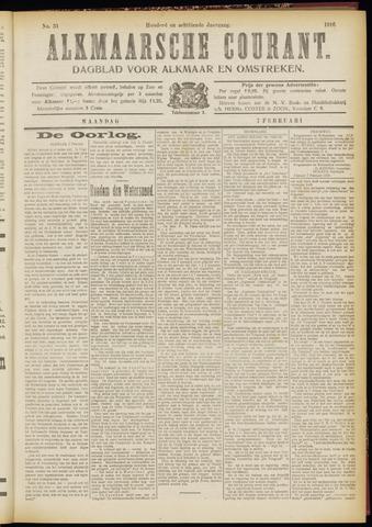 Alkmaarsche Courant 1916-02-07