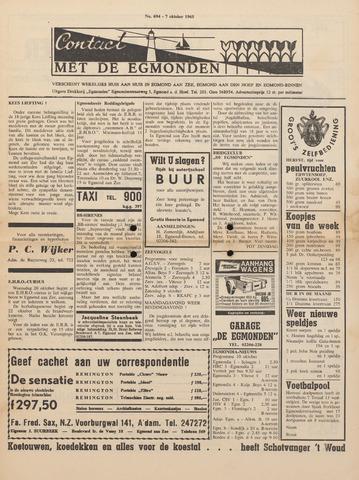 Contact met de Egmonden 1965-10-07