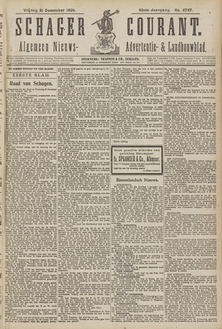 Schager Courant 1920-12-31