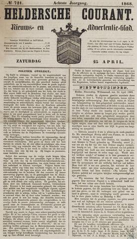 Heldersche Courant 1868-04-25
