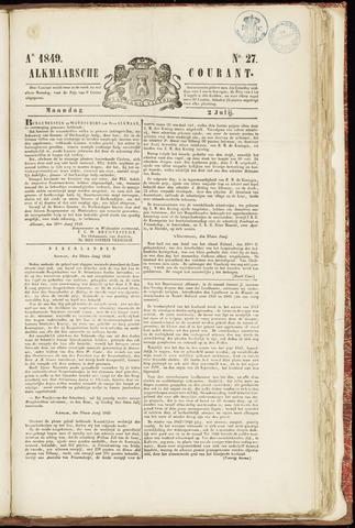 Alkmaarsche Courant 1849-07-02
