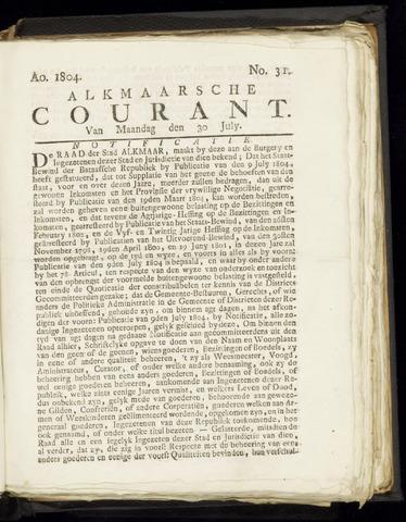 Alkmaarsche Courant 1804-07-30