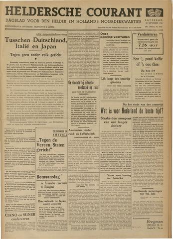Heldersche Courant 1940-09-29