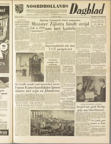 Noordhollands Dagblad : dagblad voor Alkmaar en omgeving 1958-11-20