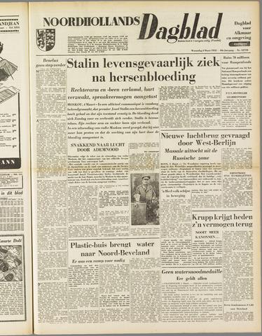 Noordhollands Dagblad : dagblad voor Alkmaar en omgeving 1953-03-04