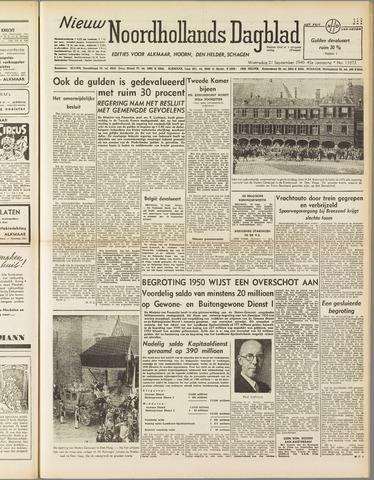 Nieuw Noordhollandsch Dagblad : voor Alkmaar en omgeving 1949-09-21