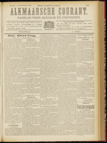 Alkmaarsche Courant 1916-04-05
