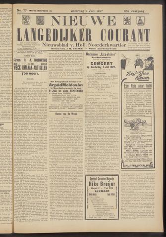 Nieuwe Langedijker Courant 1927-07-02