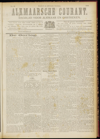 Alkmaarsche Courant 1916-02-17