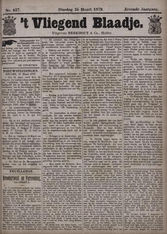 Vliegend blaadje : nieuws- en advertentiebode voor Den Helder 1879-03-25