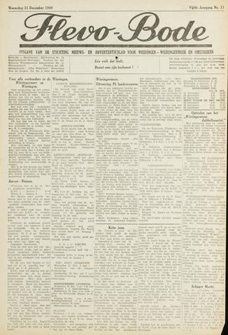 Flevo-bode: nieuwsblad voor Wieringen-Wieringermeer 1949-12-21