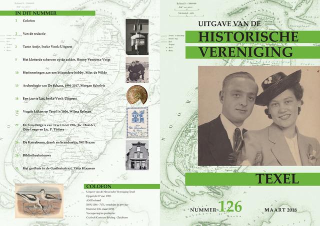 Uitgave Historische Vereniging Texel 2018-03-01