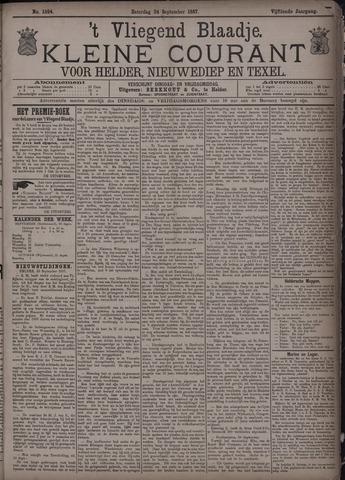 Vliegend blaadje : nieuws- en advertentiebode voor Den Helder 1887-09-24