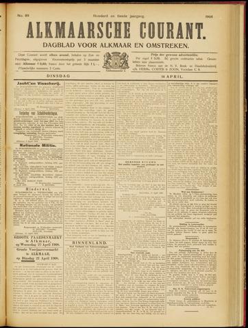Alkmaarsche Courant 1908-04-14