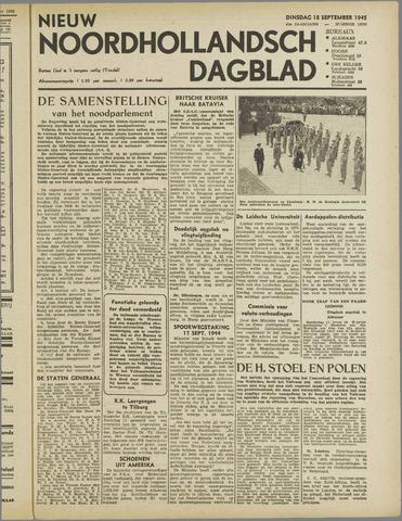 Nieuw Noordhollandsch Dagblad : voor Alkmaar en omgeving 1945-09-18