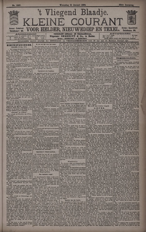 Vliegend blaadje : nieuws- en advertentiebode voor Den Helder 1894-01-31