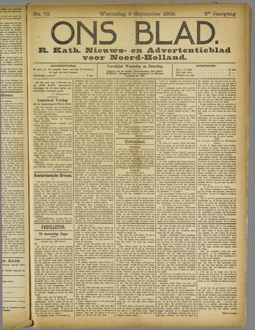 Ons Blad : katholiek nieuwsblad voor N-H 1908-09-09