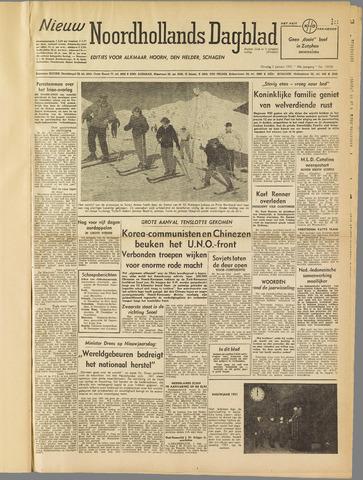 Nieuw Noordhollandsch Dagblad : voor Alkmaar en omgeving 1951-01-02