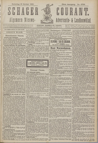 Schager Courant 1920-10-16