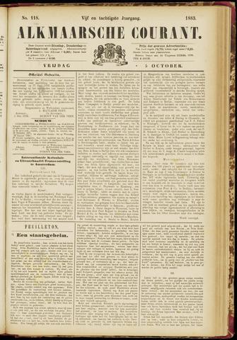 Alkmaarsche Courant 1883-10-05