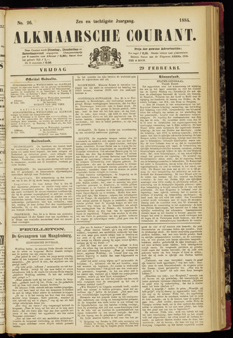 Alkmaarsche Courant 1884-02-29