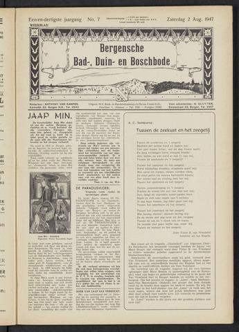 Bergensche bad-, duin- en boschbode 1947-08-02