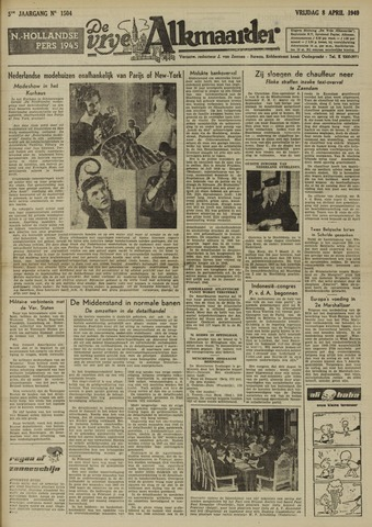 De Vrije Alkmaarder 1949-04-08