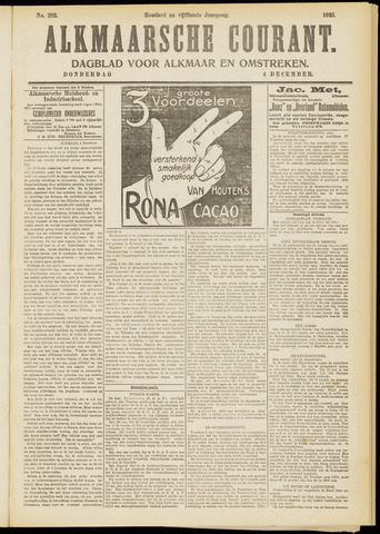 Alkmaarsche Courant 1913-12-04