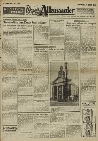 De Vrije Alkmaarder 1949-02-21