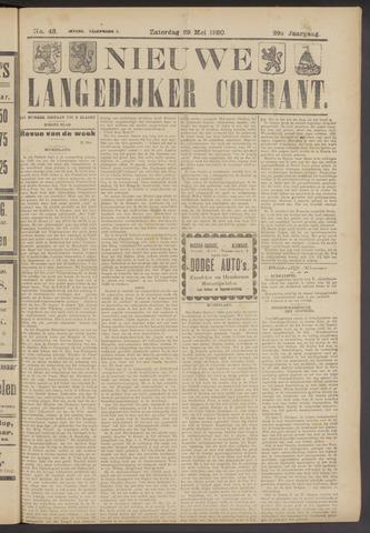 Nieuwe Langedijker Courant 1920-05-29