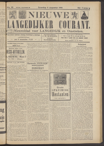 Nieuwe Langedijker Courant 1925-08-08