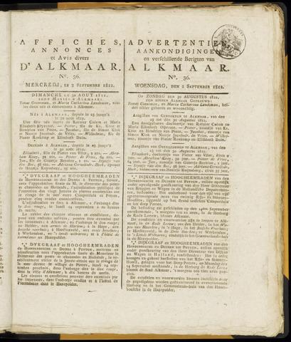 Alkmaarsche Courant 1812-09-02